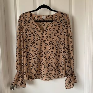 A new day leopard print blouse S